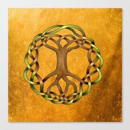 World Tree (Yggdrasil) Knot Canvas Print
