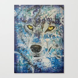 Eyes of The Lone Wolf Canvas Print