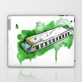 Watercolor Harmonica (Dark Green) Laptop & iPad Skin