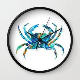 Blue Crab Art by Sharon Cummings Wall Clock