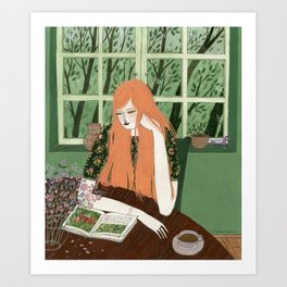 """The Reader"" by Yelena Bryksenkova Art Print"
