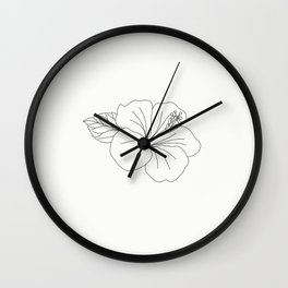 flower illustration Wall Clock