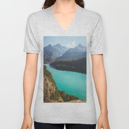 Brilliant Blue Diablo Lake Unisex V-Neck