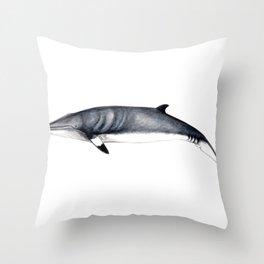 Minke whale Throw Pillow