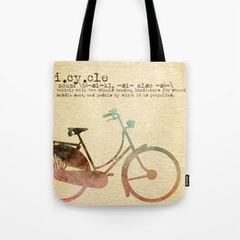 Bicycle Definition Tote Bag