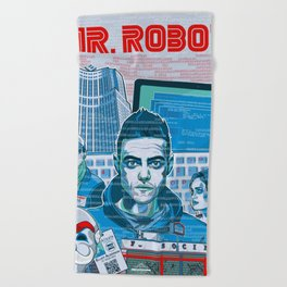Mr. Robot Beach Towel