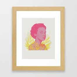 Side Eye Framed Art Print
