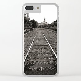 Railroad Tracks Clear iPhone Case