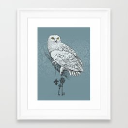 Secrets of the Snowy Owl Framed Art Print