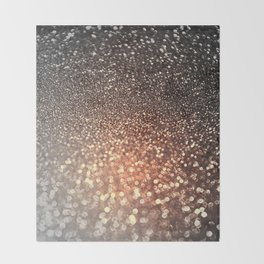 Tortilla brown Glitter effect - Sparkle and Glamour Throw Blanket