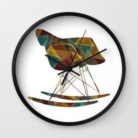 eames Wall Clocks featuring Eames Rocker by Ruby