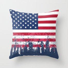 Merican Flag OG Throw Pillow