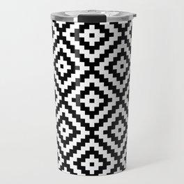 Aztec Block Symbol Ptn BW II Travel Mug