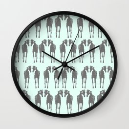 Sticking his neck out (Blue) Wall Clock