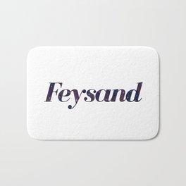 Feysand galaxy design white Bath Mat
