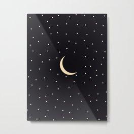 Starry Night Sky - Black Metal Print