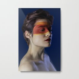 The masked beauty Metal Print