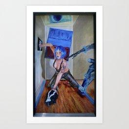 Blue Reality Art Print
