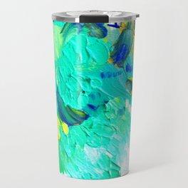 Turquoise Clouds Travel Mug