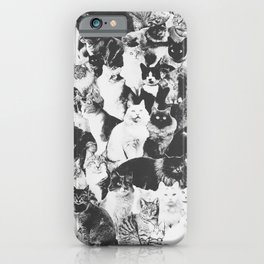 Cats Forever B&W iPhone Case