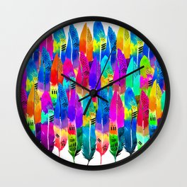 Patterned Parrot Wall Clock