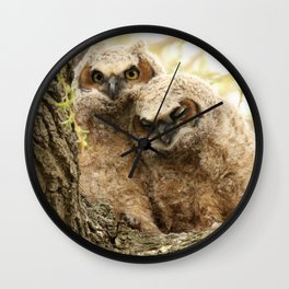 Rest your head on my shoulder Wall Clock