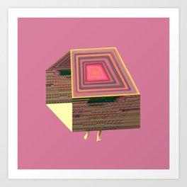 Pink Virtual House Art Print