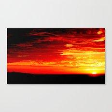 Fiery Sky Canvas Print