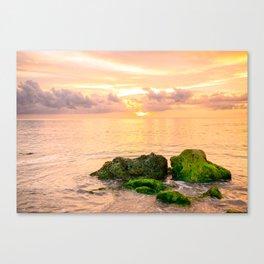 Glowing Caribbean Sunset Fine Art Print Canvas Print