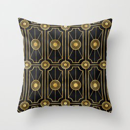 Sultry Art Deco: A Sniffer of Brandy at Midnight Throw Pillow
