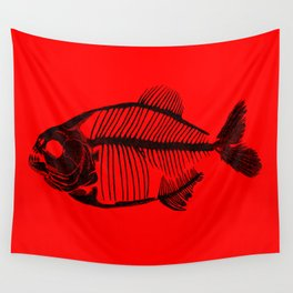 Memoria Amazonica - Piranha Skeleton Wall Tapestry