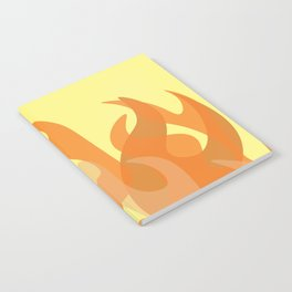 Pastel Flames Notebook