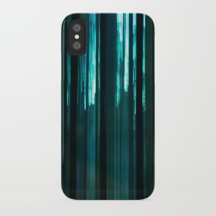 Forest in emerald green iPhone Case