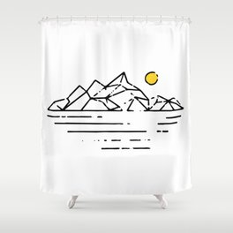 This Is Not A Sunset Shower Curtain