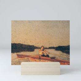 Thomas Eakins - Sketch of Max Schmitt in a Single Scull Mini Art Print