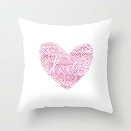 Dots and Love Throw Pillow