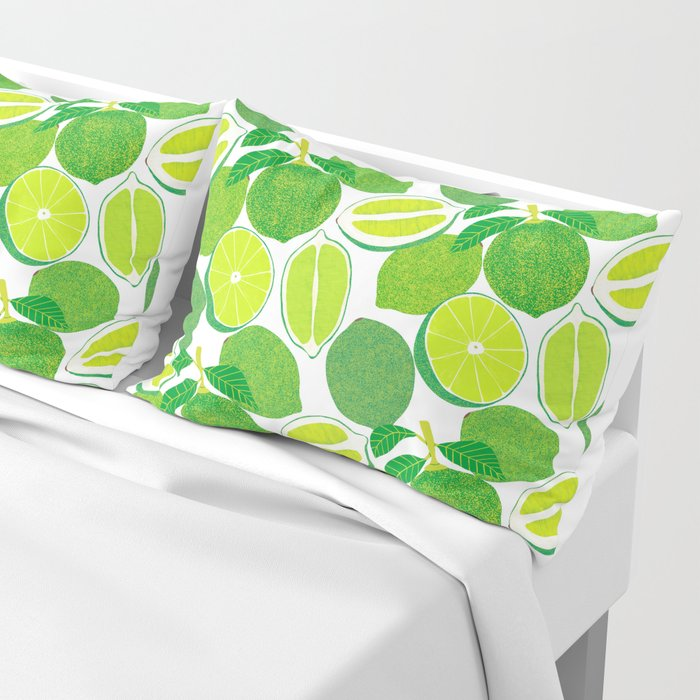 Lime Harvest Pillow Sham