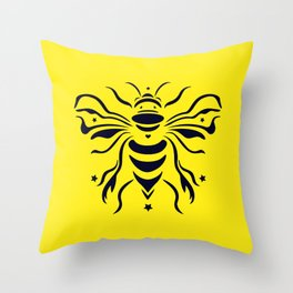 Save the bumblebee by #Bizzartino Throw Pillow