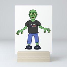 Zombie Trump Supporter Mini Art Print