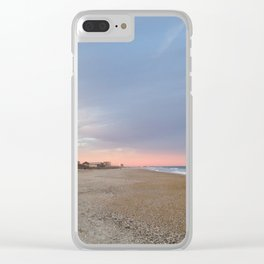Pink horizon Clear iPhone Case