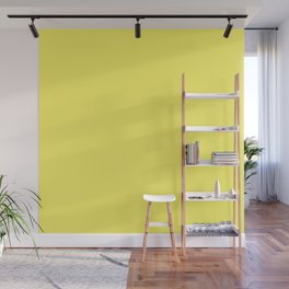 Darling Dahlia Yellow Solid Color Wall Mural