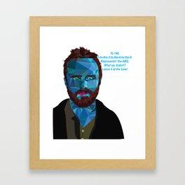 Jesse Pinkman quote Framed Art Print