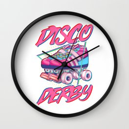 Disco Derby Roller Skates Wall Clock