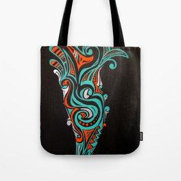 black and green Tote Bag