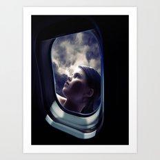 Through the window on the plane 1 Art Print