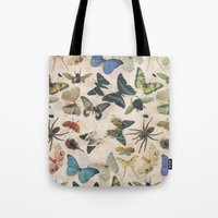 insect Tote Bags featuring Insect Jungle by Galvanise The Dog