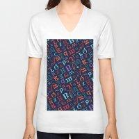 alphabet V-neck T-shirts featuring Alphabet  by cactus studio