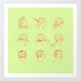The Bob (Sherbert+Red) Art Print