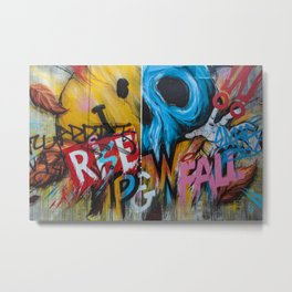 Urban Street Art: RISE & FALL Metal Print