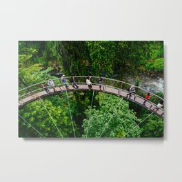 Spokes @ Capilano Suspension Bridge, Vancouver  Metal Print